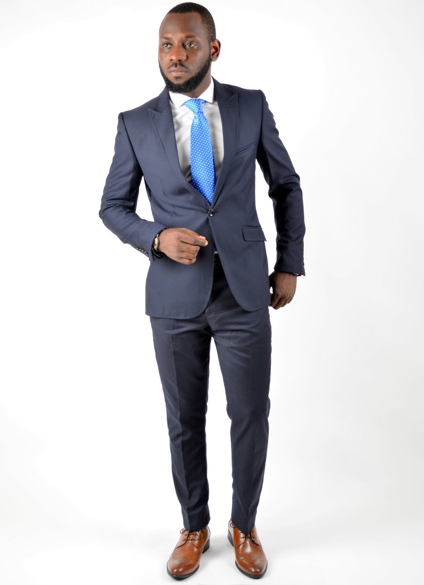 Fasho | Die Caprie Fitted Suit - Navy Blue